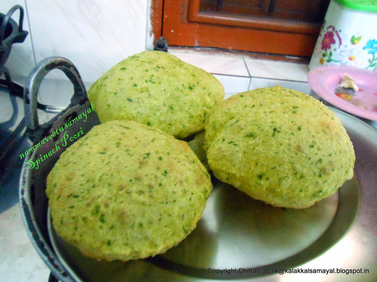 Spinach Poori
