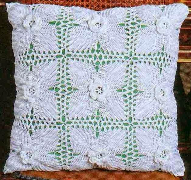 Un toque de mercy lindos cojines de crochet con graficos - Cojin de crochet ...