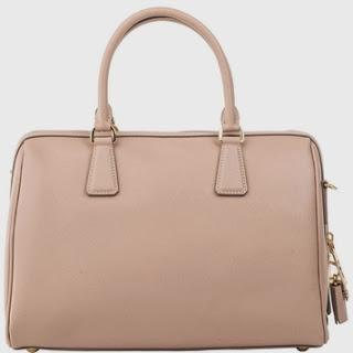 Discount Prada Saffiano Leather Bauletto Bag Cammeo  Beige