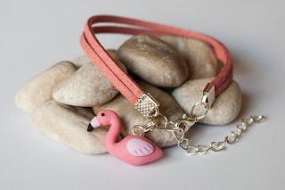 Bransoletka z flamingiem