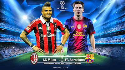 Wallpaper Video Cuplikan Goal dan Highlight Prediksi Pertandingan UEFA Liga Champions AC Milan vs Barcelona majalahsoccer.com