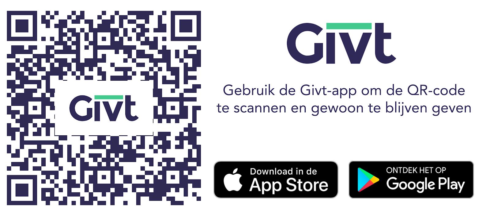 Geef aan Caritas0492 met de GIVT-app