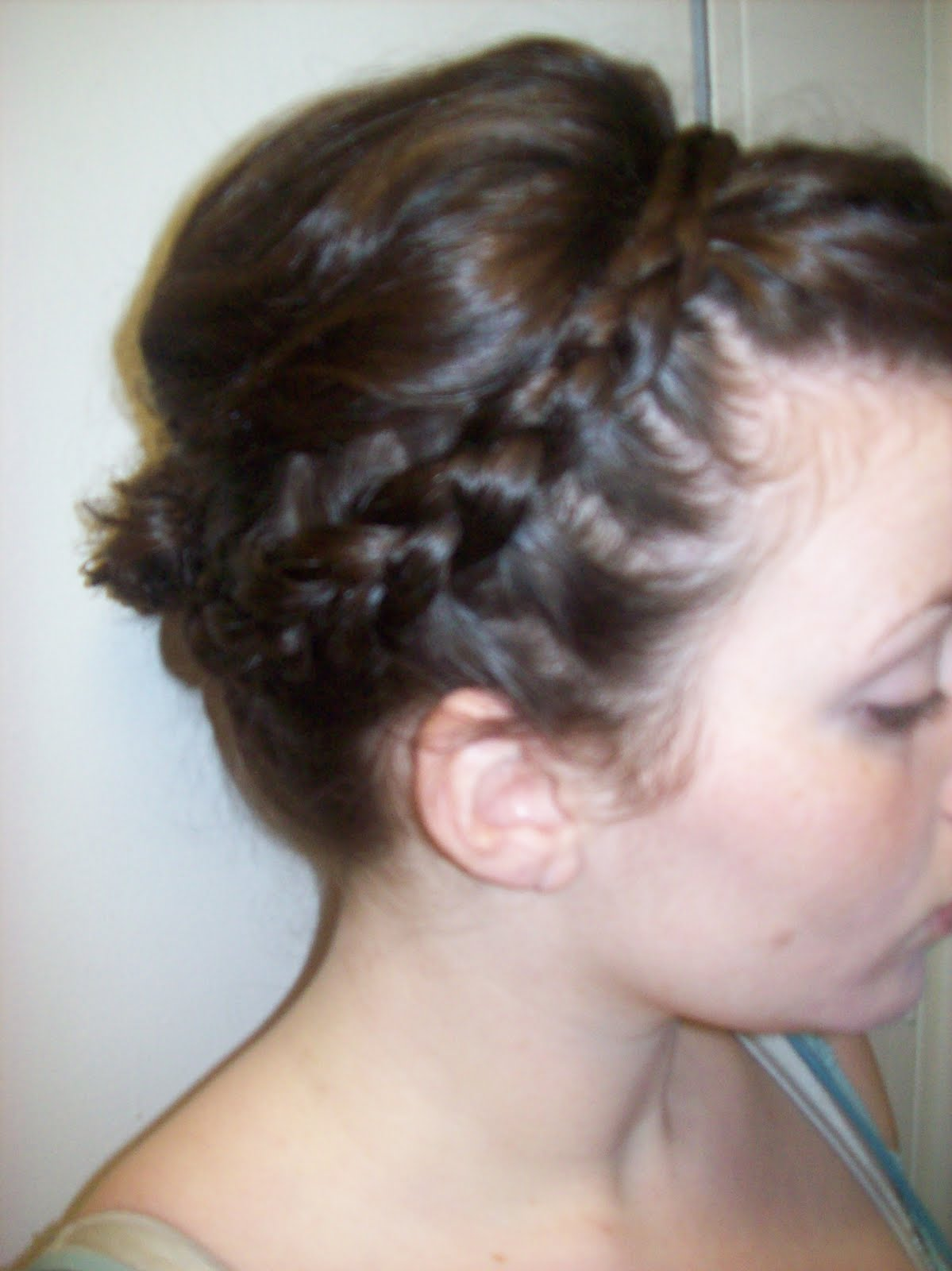 Beautiful Braided Bun Hairstyle