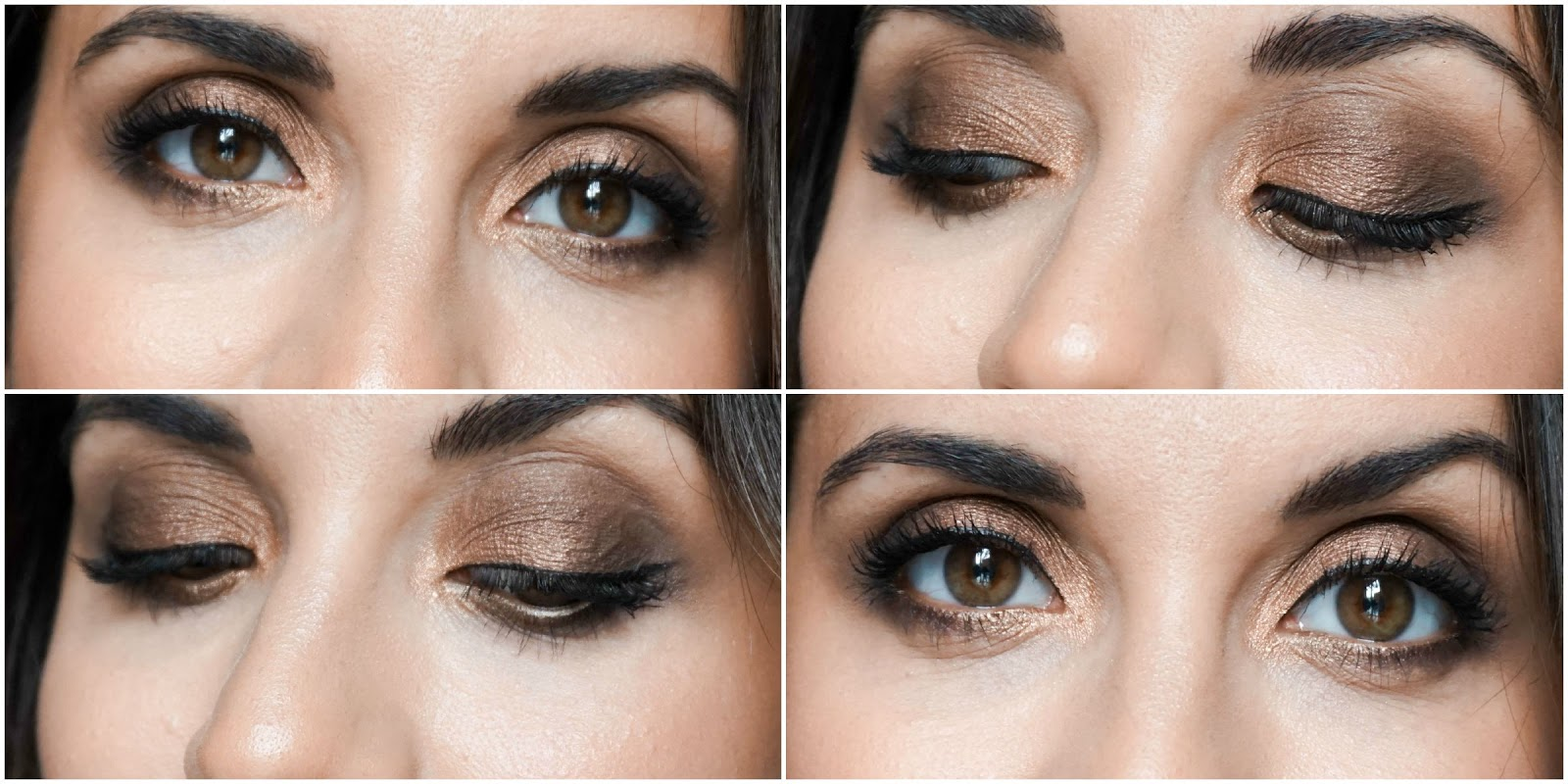 Golden Chocolate Eyes, Makeup Tutorial, Smokey Eye Look, Zoeva Cocoa Blend Palette