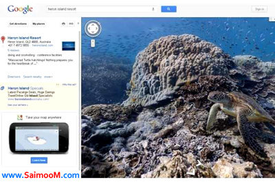 google maps underwater view