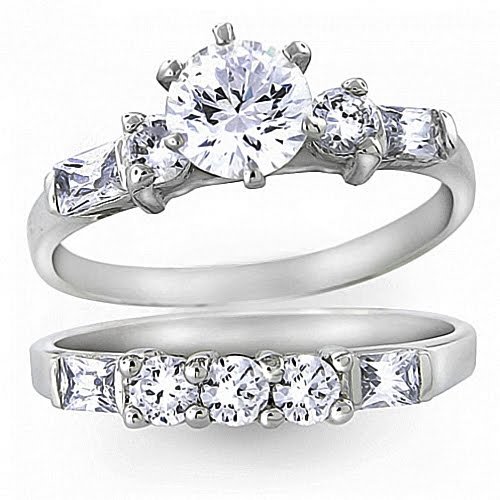 cheapest wedding ring sets modest