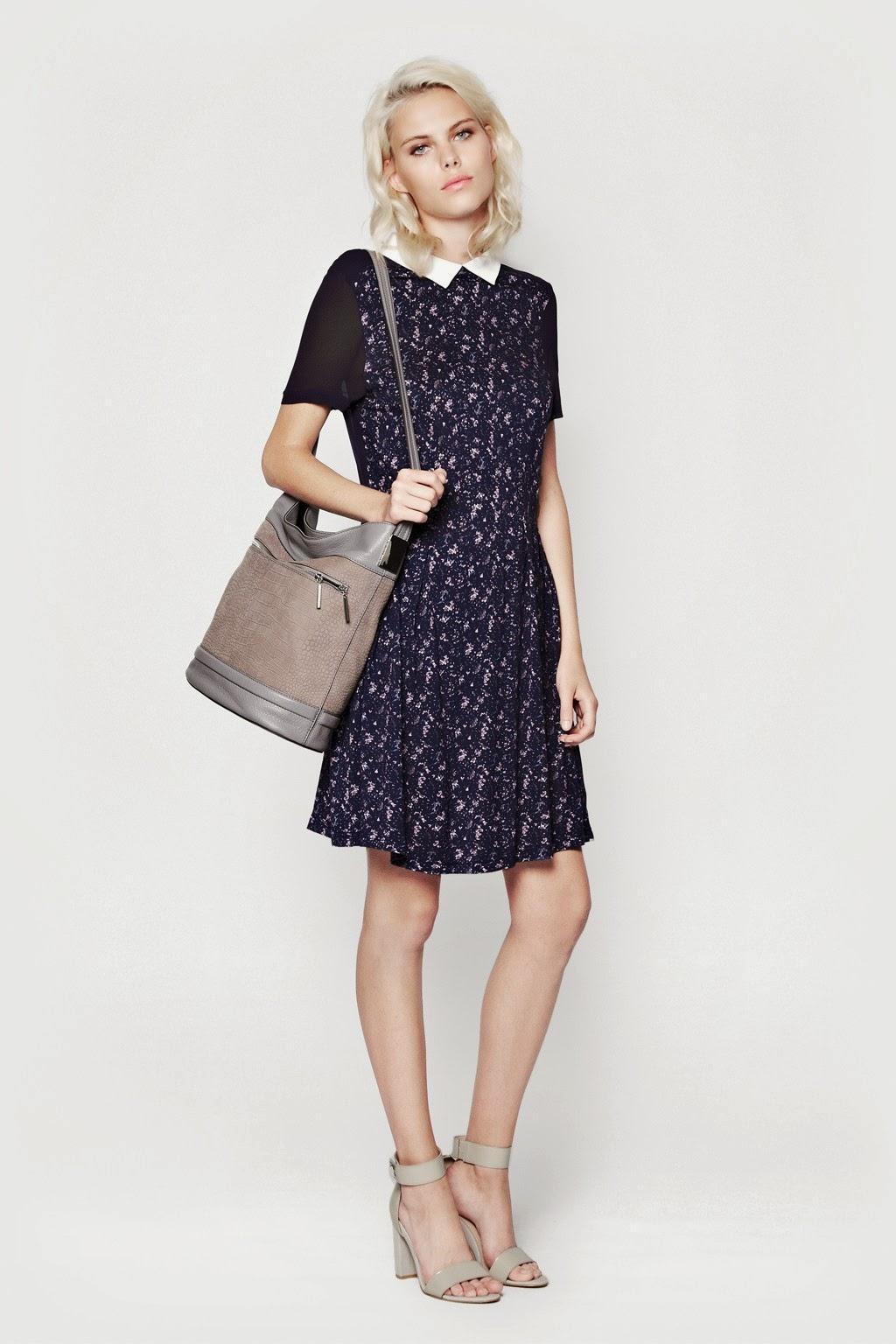 navy collared dress