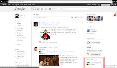 como criar uma fã page google+