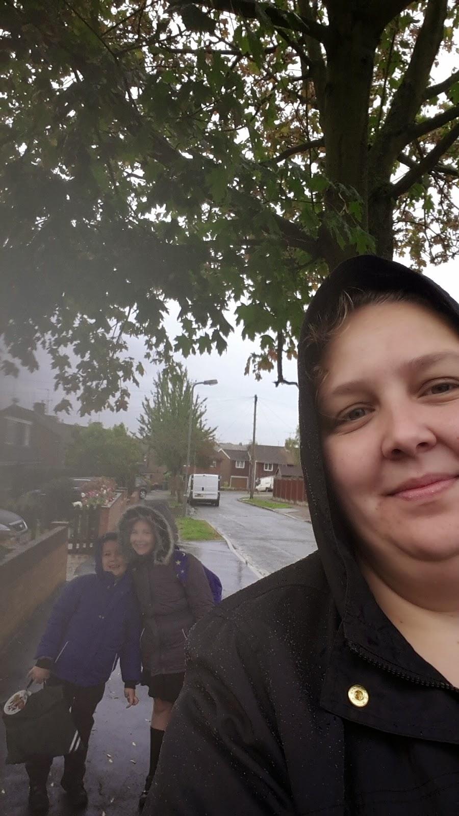 on the way to School selfie