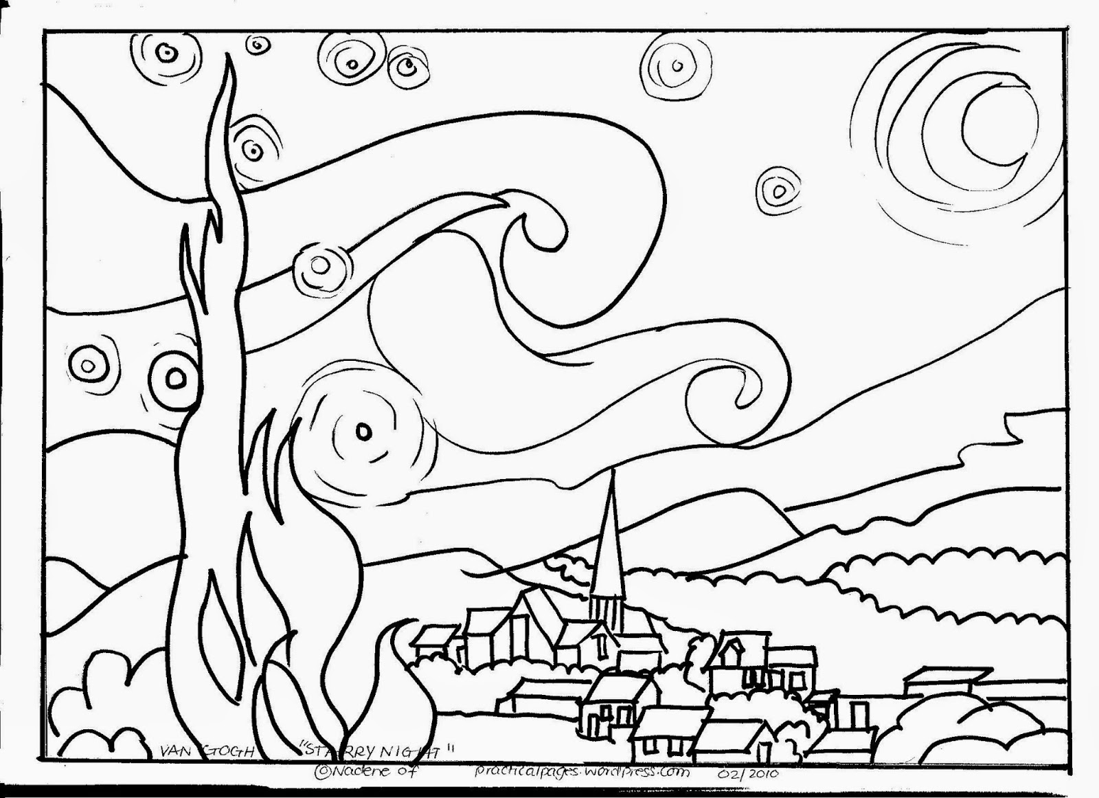 printable coloring pages famous artists - photo#25