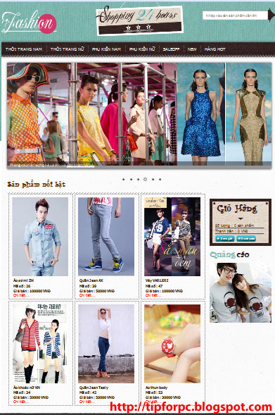 Source ASP.Net Mã nguồn Website Bán quần áo