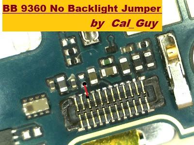 Blackberry 9360 Back light Jumper Solution