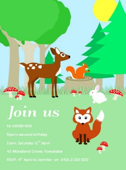 Forest Animals Invitation