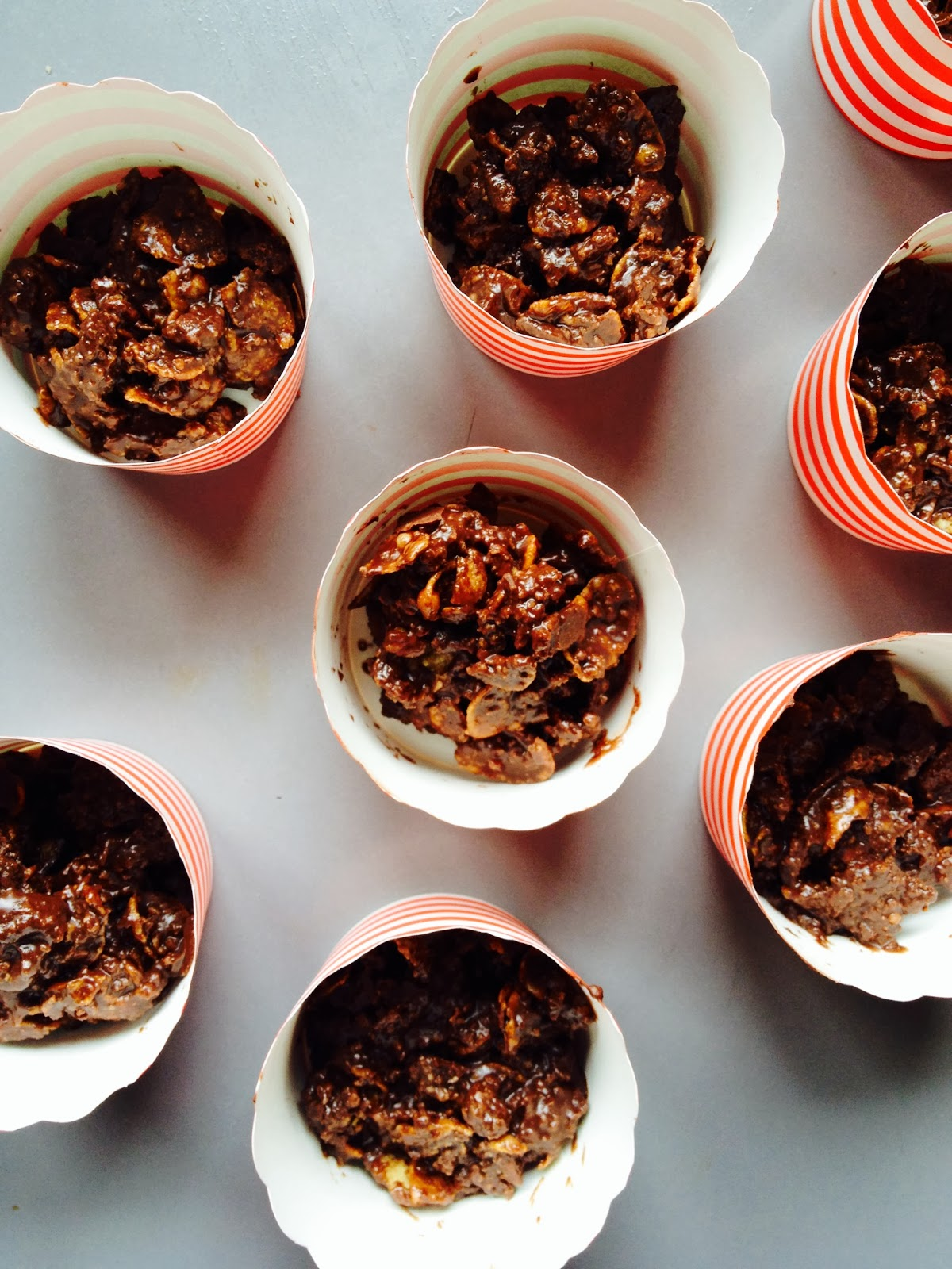 Chocolate Cornflake Roughs In Cupcake Cases