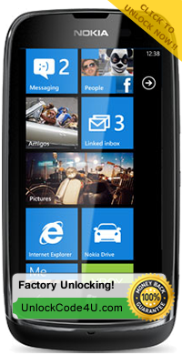 Factory Unlock Code for Nokia Lumia 610