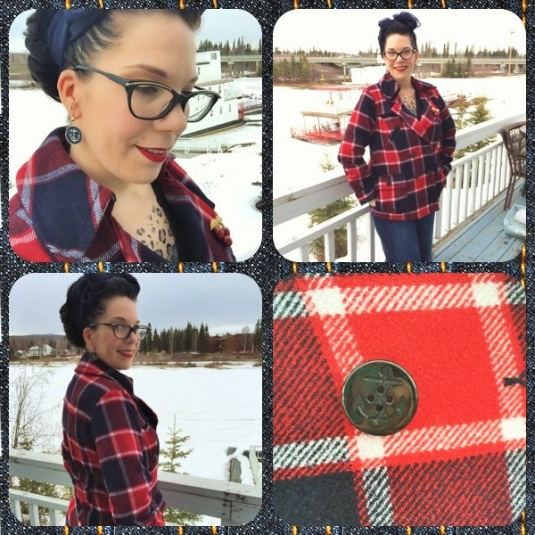 vintage inspired plaid coat