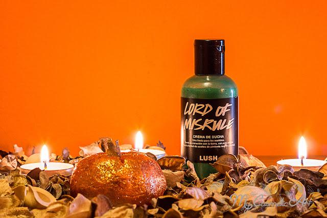 Ediciones limitadas de Lush para Halloween: crema de ducha Lord of Mirsule y Burbuja de baño Sparkly Pumpkin.