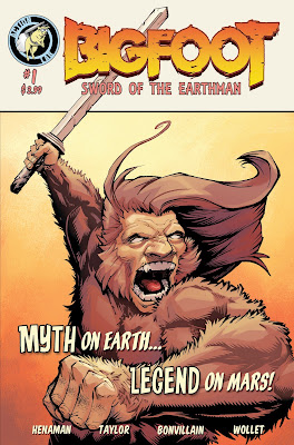 bigfoot sword of the earthman action lab entertainment issue one bigfoot comic graphic novel barbarian comic