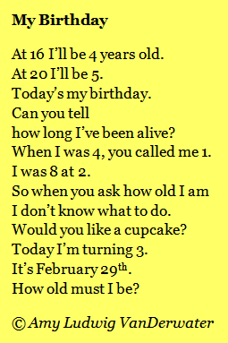 The Poem Farm My Birthday Poems about Occasions