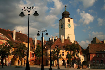 Hermannstadt Romania, the Small Plaza