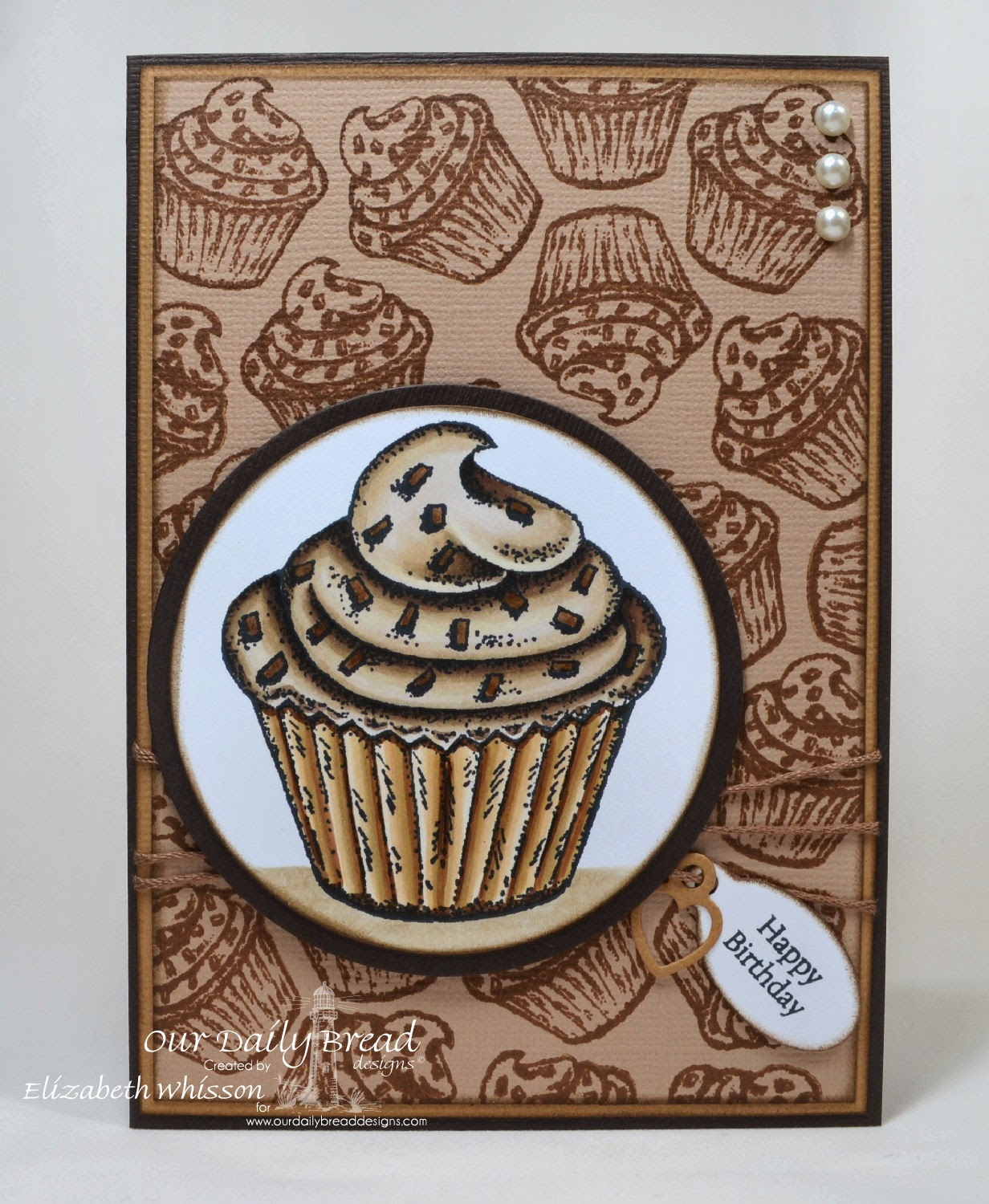 Our Daily Bread Designs, Cupcake Single, Baking Gift Tags, Mini Tag Sentiments, ODBD Mini Tag Dies, ODBD Matting Circles Dies, ODBD Circle Ornament Dies, Designed by Elizabeth Whisson