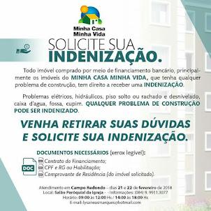 INDENIZAÇÕES DE CASAS ADQUIRIDAS PELO MINHA CASA, MINHA VIDA