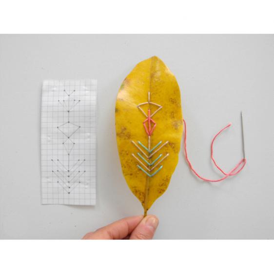 Χειροτεχνήματα Πώς κεντάμε τα φύλλα μανόλιας how to