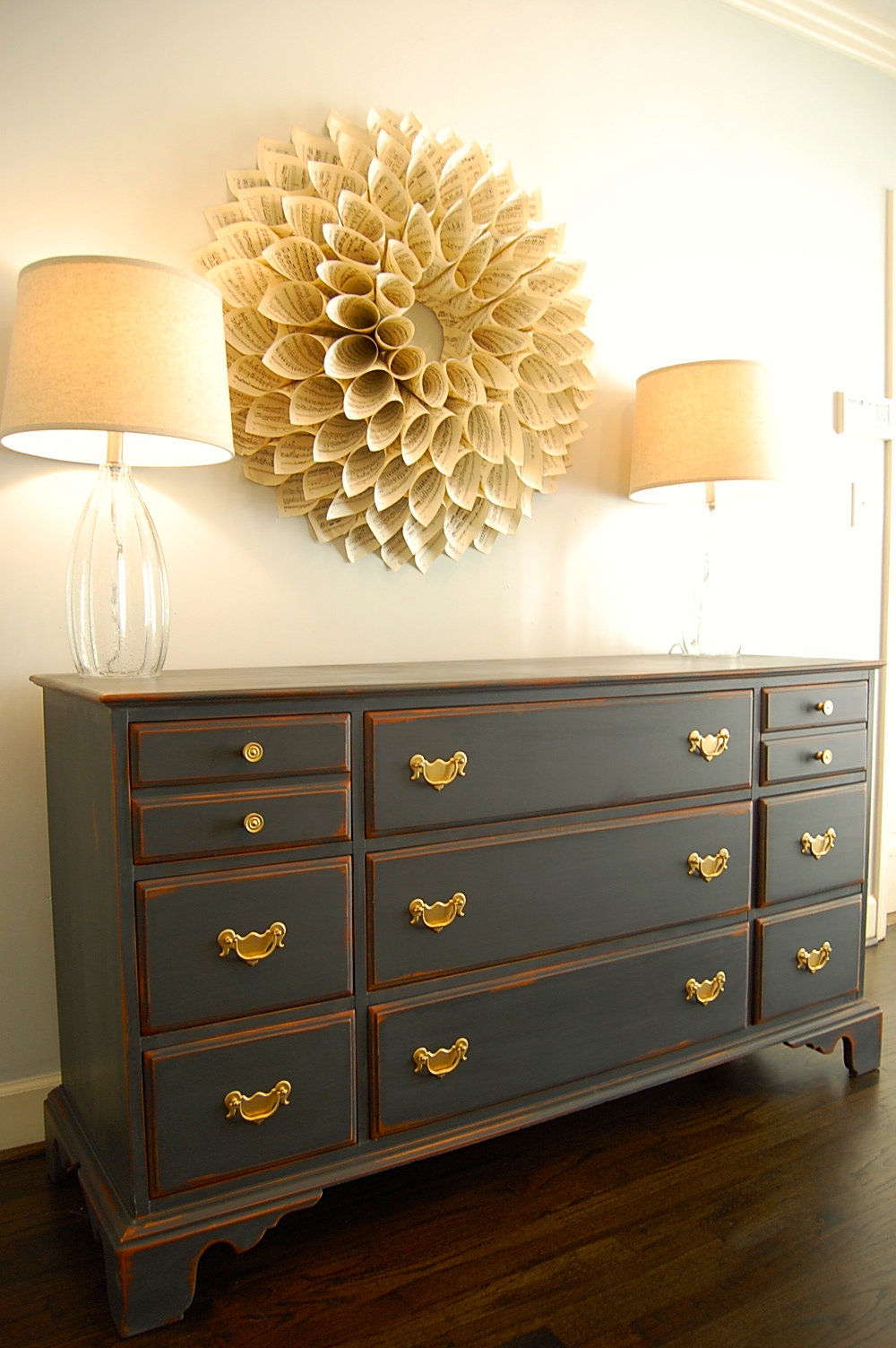 atlanta shabby chic antique cherry dresser buffet sold. Black Bedroom Furniture Sets. Home Design Ideas