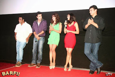 Barfi! Trailer Launch Images Featuring Hot Ranbir Kapoor, Priyanka Chopra, Ileana D'Cruz