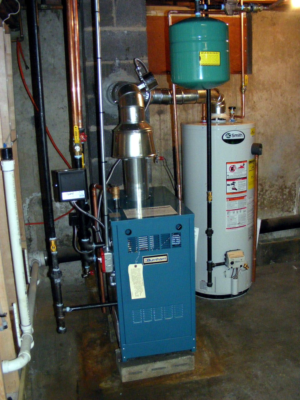 Chip\'s News from Newport: No more oil heat! New Gas Boiler and Water ...