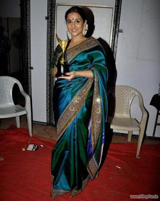 Vidya in her traditional wear looks