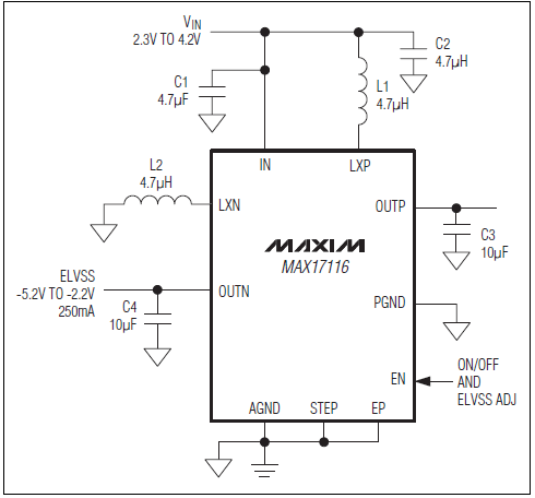 Dual-Output DC/DC Power Supply for AMOLED Displays