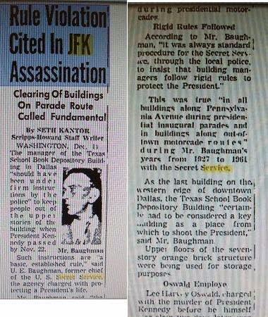 DEC 1963- FORMER JFK SECRET SERVICE CHIEF U.E. BAUGHMAN TELLS THE TRUTH