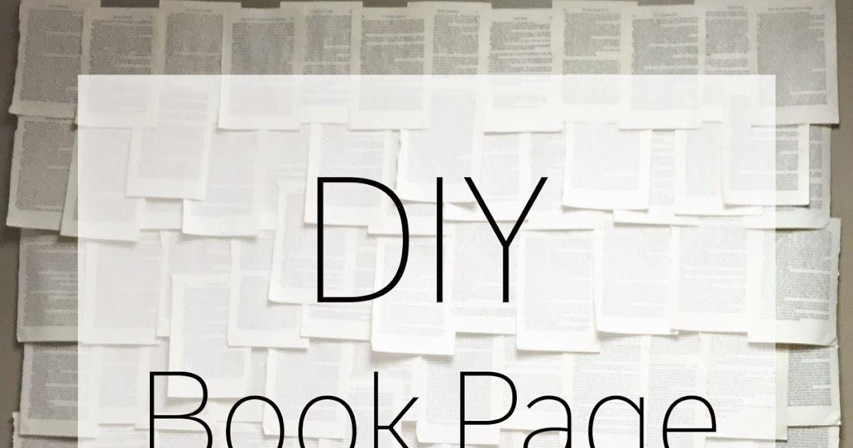 DIY Book Page Wall Art | Walking Worthy: DIY Book Page Wall Art
