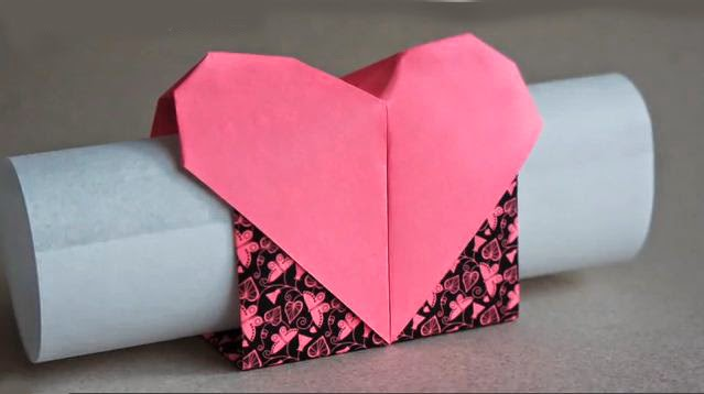 The Steps How To Fold Love Heart Paper In Below Video And Write Your Note On A Piece Of Roll It Up Nest Into Little Box