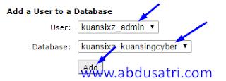 cara membuat database untuk blog wordpress di hosting