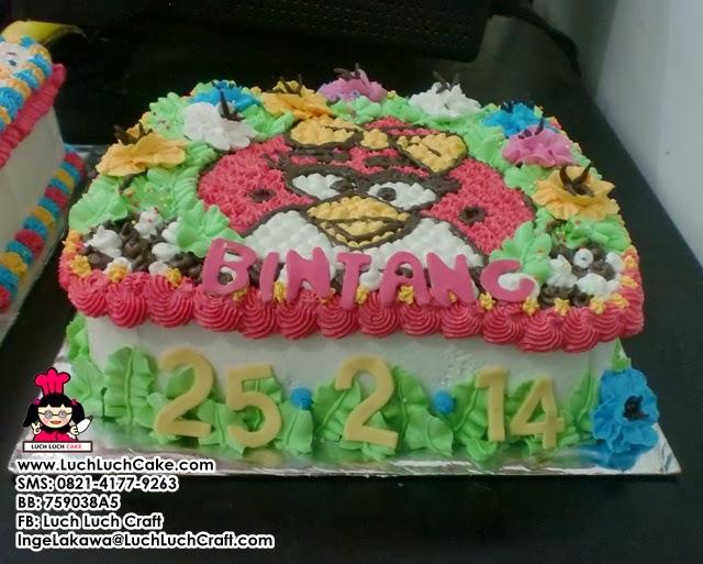 kue tart angry bird lucu murah