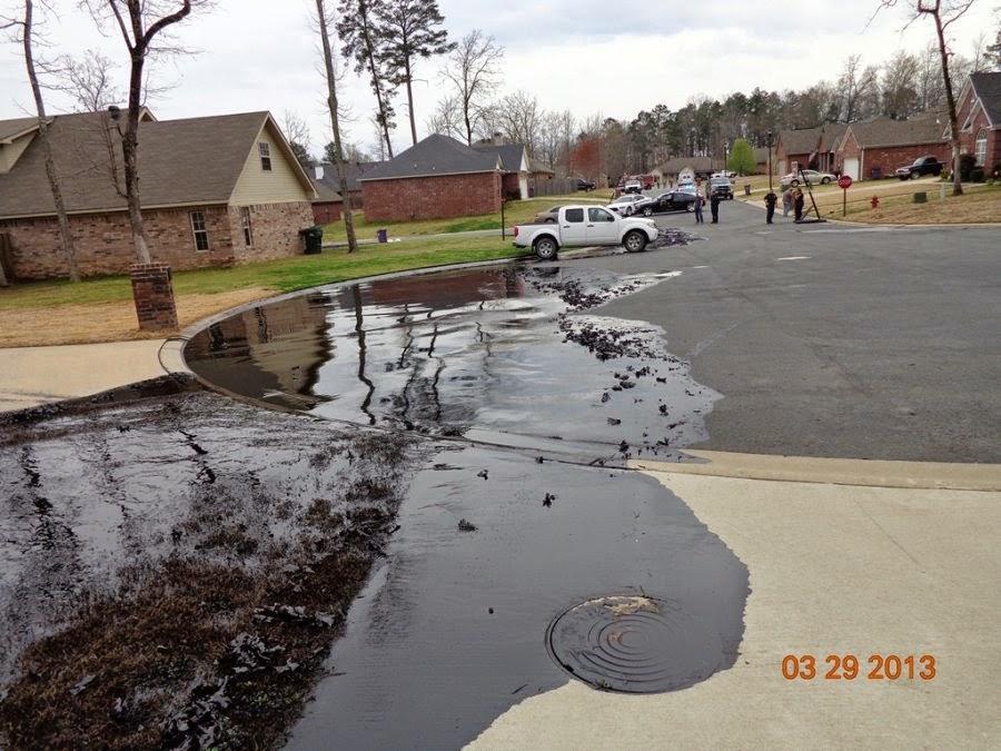 oil spill in mayflower arkansas