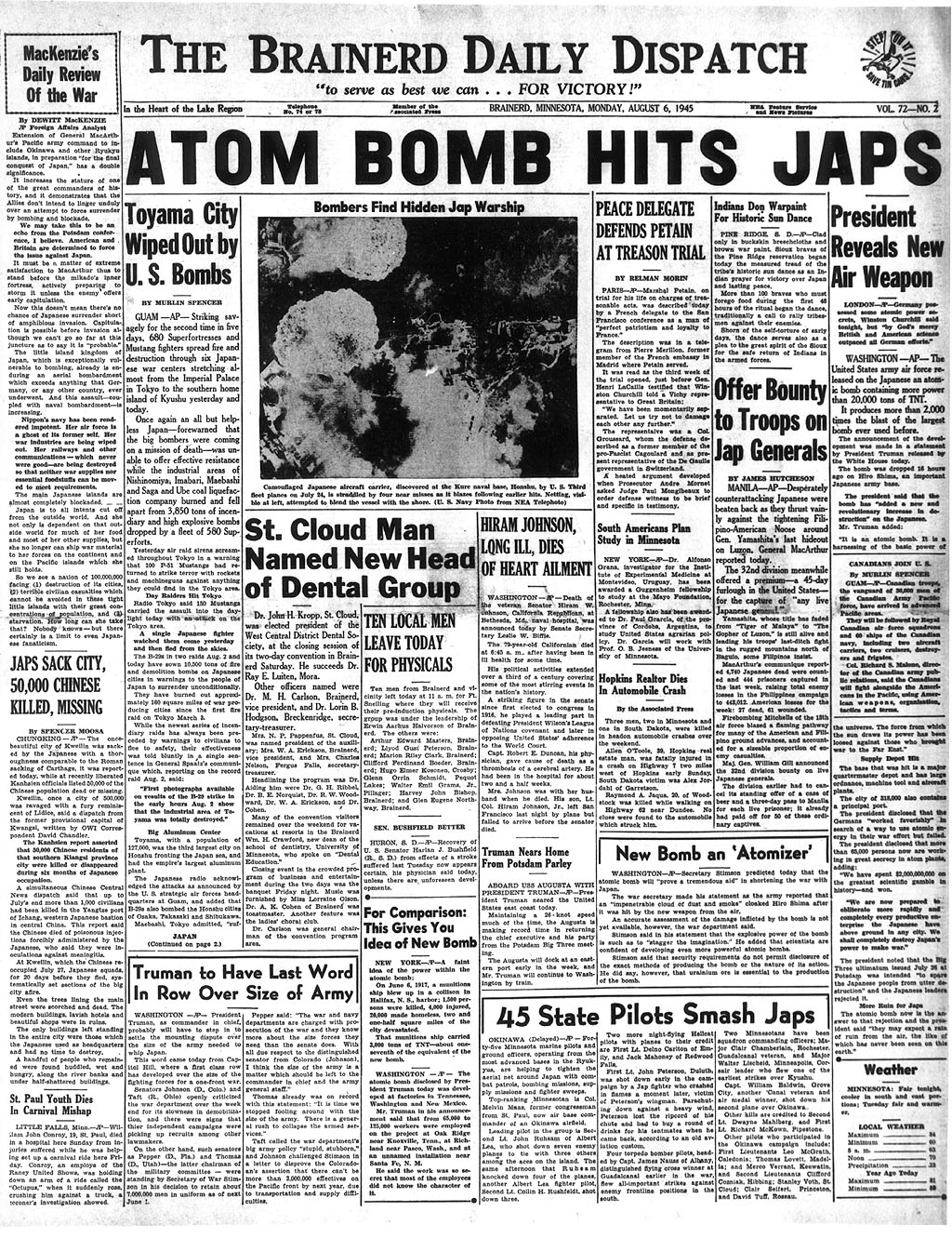 """a historical narrative of the use of the atomic bomb on the japanese islands That """"the atomic bombultimately spared more japanese civilians on the islands history, the decision to use the atomic bomb and the."""