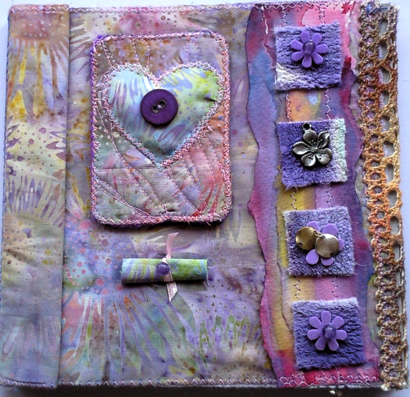 Book Cover With Fabric ~ Patties art fabric tag book first chapter