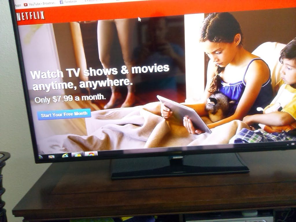 how to connect netflix to tv from laptop