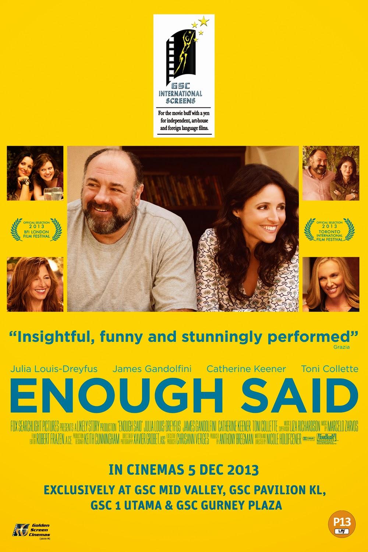 movie review enough said colourlessopinionscom