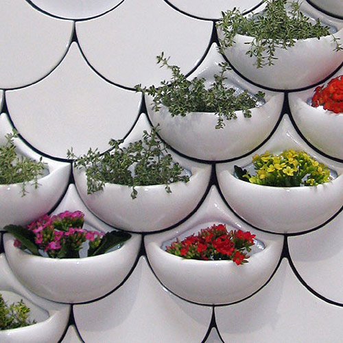 jardim vertical reciclavel:Ceramic Planter Wall Tiles