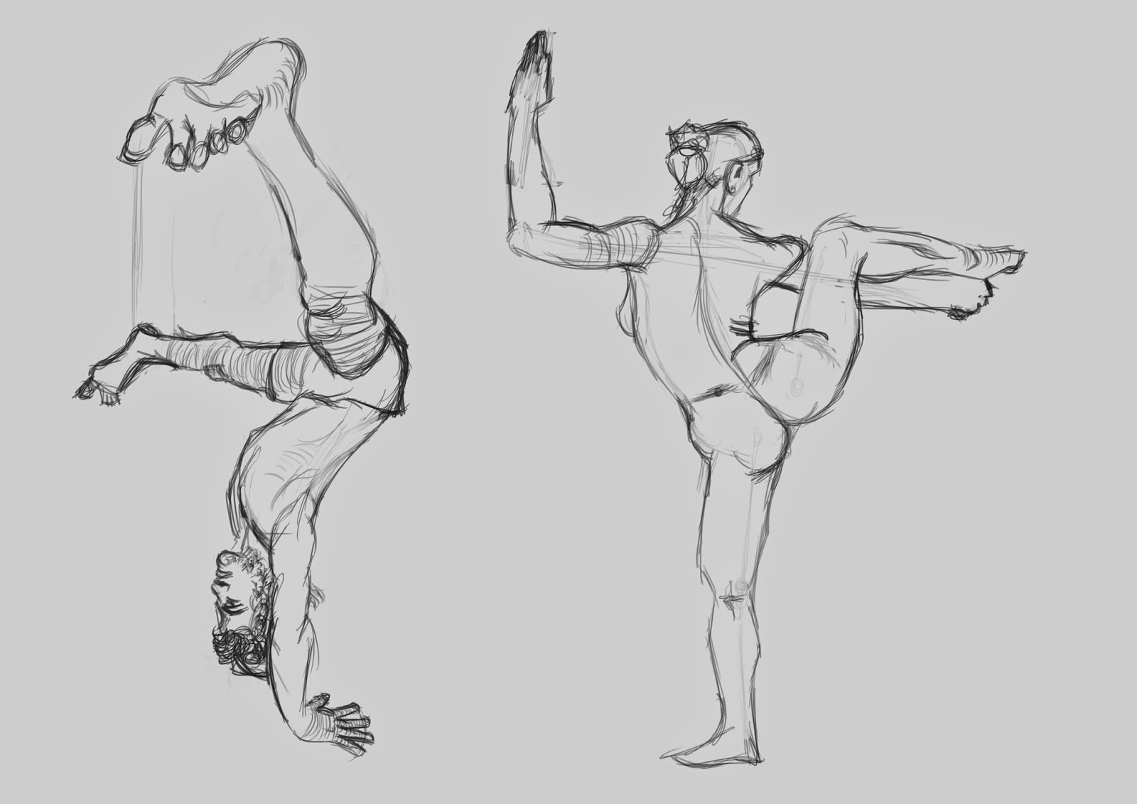 The Line Art Challenge : Max s figure drawing challenge day