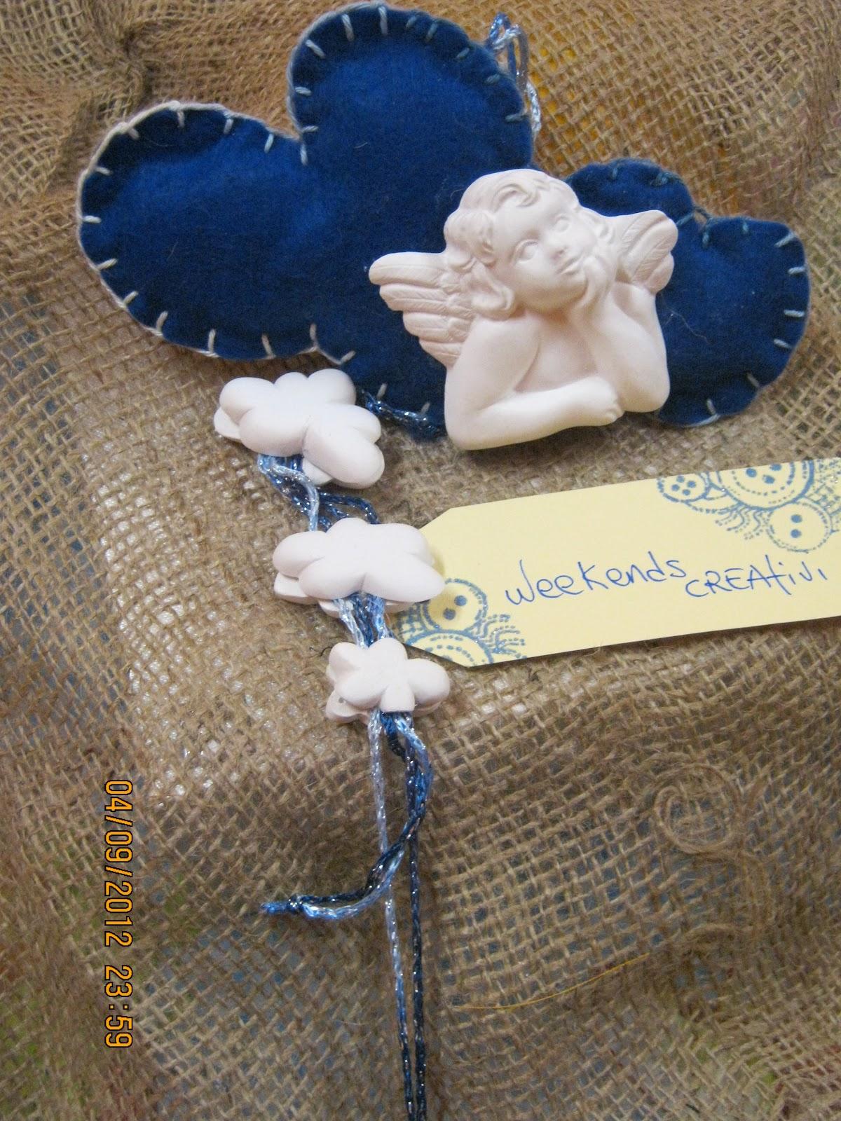 Week ends creativi pinkeep nuvoletta portafortuna con - Portafortuna fai da te ...