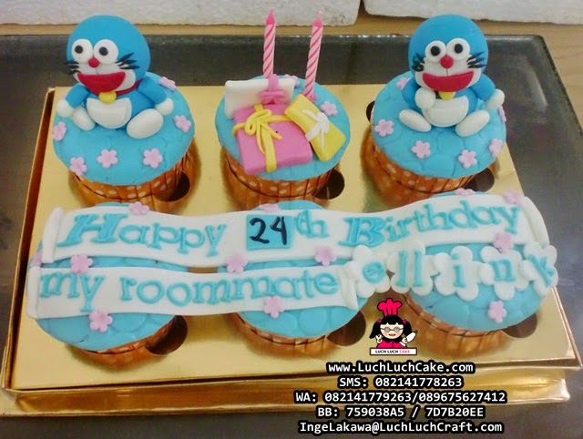 Cupcake Doraemon Daerah Surabaya - Sidoarjo