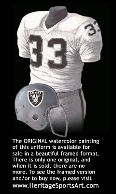 Oakland Raiders 1976 road uniform