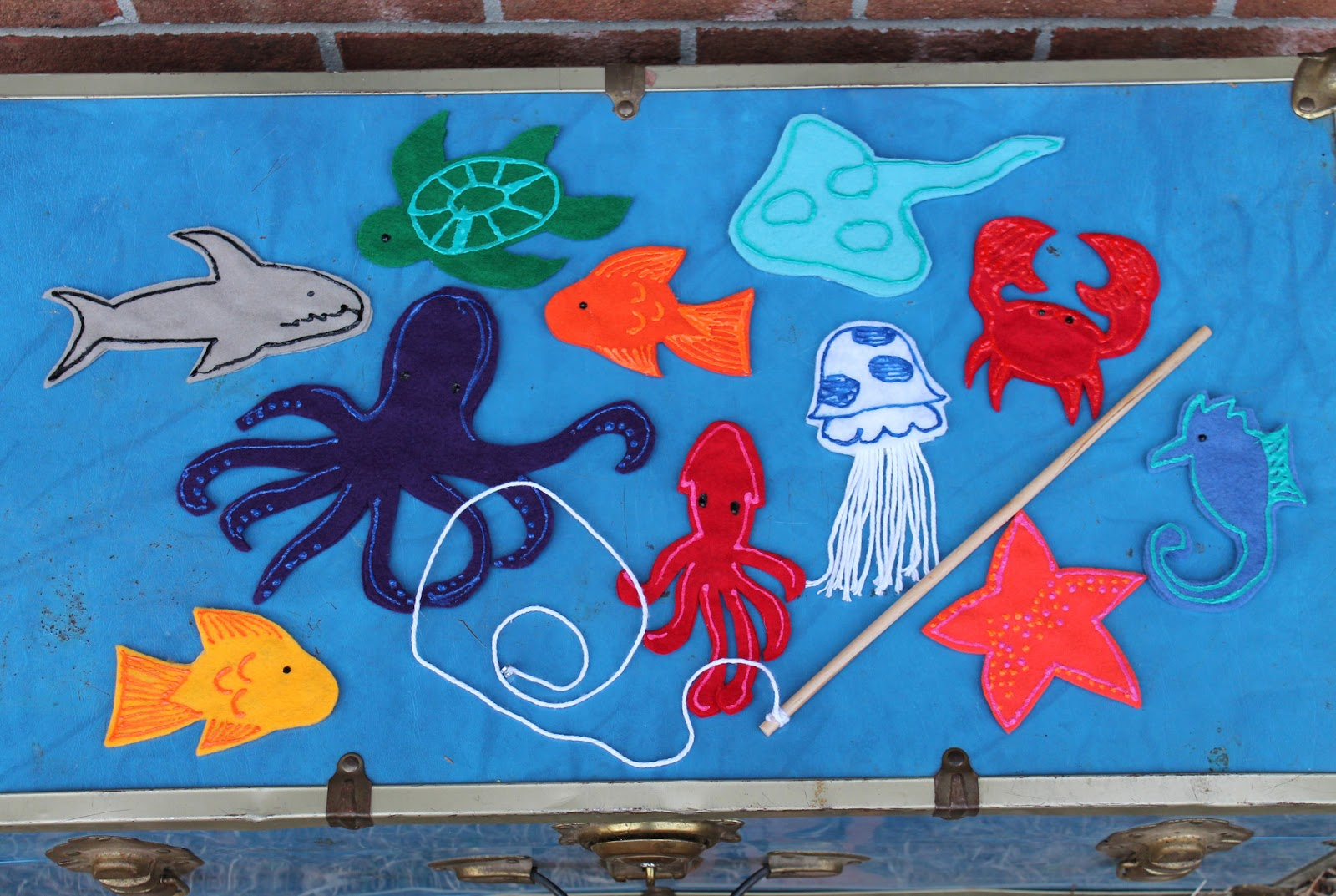 doodlecraft under the sea creature magnetic fishing set
