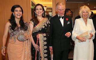 Ajay, Nita Ambani & Kajol with Prince Charles & Camilla at British Asian Trust