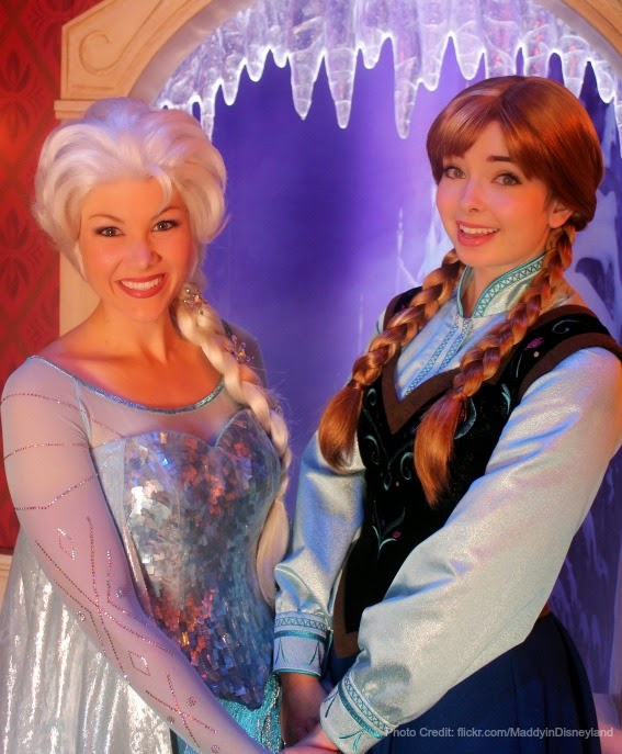 Top spots at walt disney world to get your frozen fill sand and snow anna elsa meet and greet at princess fairytale hall in magic kingdom m4hsunfo